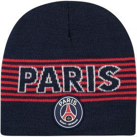 Paris Saint-Germain Core Wordmark Beanie - Blue/Red - Men's