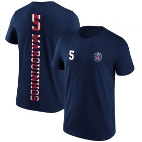 Paris Saint-Germain Marquinhos No5 Graphic T-Shirt - Navy - Mens