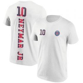 Paris Saint-Germain Neymar No10 Graphic T-Shirt - White - Mens