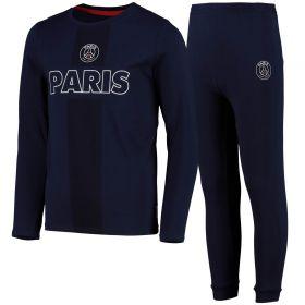 Paris Saint-Germain Wordmark Loungewear Jogger Set - Blue - Kids