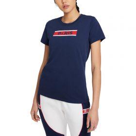 Paris Saint-Germain x Jordan Slogan T-Shirt - Midnight Navy - Womens