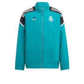Real Madrid European Training Presentation Jacket-Green-Kids