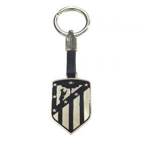 Atlético de Madrid Crest Keyring - Black-Silver