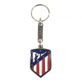 Atlético de Madrid Crest Keyring - Silver Back
