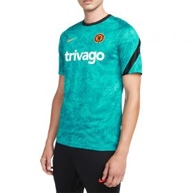 Chelsea Pre-Match Short-Sleeve Soccer Top - Turquoise