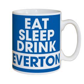 Everton Personalised Eat Sleep Drink Mug