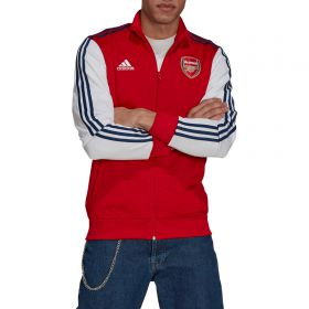 Arsenal 3 Stripe Track Top-Red