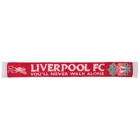 Liverpool 47 Brand Gold Stand YNWA Scarf - Red/White - Adult