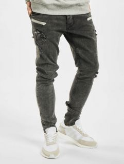 2Y / Slim Fit Jeans Marled in grey