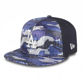 Шапка New Era Sequin Hide LA Dodgers Womens 9FIFTY Snapback