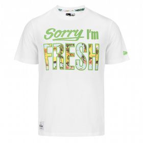 New Era Sorry Im Fresh Tee White