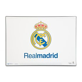 Real Madrid Crest Desk Mat - 34.5cm x 49.5cm