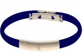 Tottenham Hotspur Crest Rubber Band Bracelet - Stainless Steel