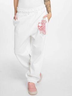 Dangerous DNGRS / Sweat Pant Flower in white