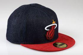 Type Caps New Era Densuede Miami Heat Denim Fitted Cap