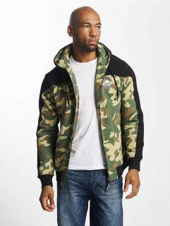 Thug Life / Zip Hoodie Crock in camouflage