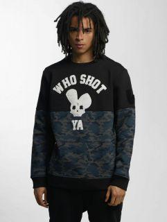 Who Shot Ya? / Jumper Darkcamou in black
